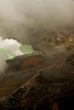 Ηφαίστειο Poas σε μια βαριά σκόνη Στοκ Εικόνες