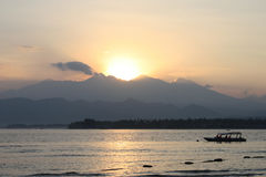 ηφαίστειο rinjani της Ινδονησί&alph Στοκ Εικόνα
