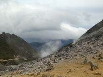 Ηφαίστειο Sibayak 7 θείου Sumatra στοκ φωτογραφίες με δικαίωμα ελεύθερης χρήσης