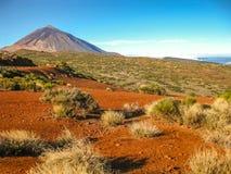 Ηφαίστειο Teide και τοπίο της κόκκινης άμμου Στοκ φωτογραφίες με δικαίωμα ελεύθερης χρήσης
