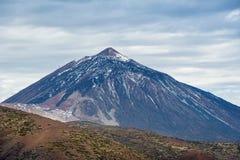 Ηφαίστειο Teide με το χιόνι, Tenerife νησί Στοκ φωτογραφία με δικαίωμα ελεύθερης χρήσης