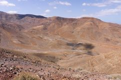Ηφαιστειακά badlands Fuerteventura Στοκ Εικόνα