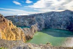 Ηφαιστειακές λίμνες Στοκ εικόνες με δικαίωμα ελεύθερης χρήσης