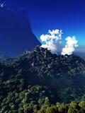 Ηφαιστειακή έκρηξη στο νησί Στοκ Εικόνες