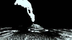 Ηφαιστειακή έκρηξη στο νησί απεικόνιση αποθεμάτων