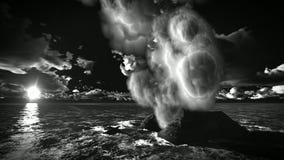 Ηφαιστειακή έκρηξη στο νησί απόθεμα βίντεο