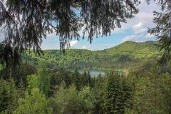 Ηφαιστειακή λίμνη κρατήρων Στοκ Φωτογραφίες