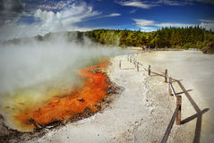 Ηφαιστειακή λίμνη, Rotorua, Νέα Ζηλανδία Στοκ Εικόνα