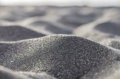 Ηφαιστειακή μαύρη αφηρημένη και θολωμένη κινηματογράφηση σε πρώτο πλάνο άμμου Στοκ φωτογραφίες με δικαίωμα ελεύθερης χρήσης