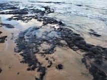 Ηφαιστειακή παραλία Arrecife, Lanzarote Στοκ φωτογραφία με δικαίωμα ελεύθερης χρήσης