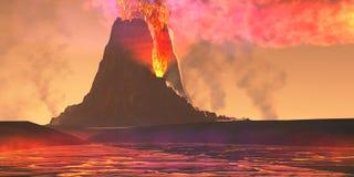 Ηφαιστειακή περιοχή απεικόνιση αποθεμάτων