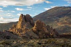 Ηφαιστειακοί βράχοι, εθνική επιφύλαξη EL Teide, Tenerife Στοκ Εικόνα
