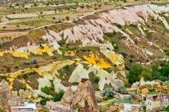 Ηφαιστειακοί σχηματισμοί βράχου σε CappadociaTurkey Goreme Στοκ Φωτογραφίες