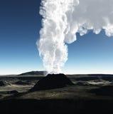 Ηφαιστειακός κρατήρας ελεύθερη απεικόνιση δικαιώματος