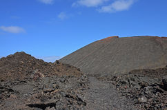 Ηφαιστειακός κώνος στο εθνικό πάρκο Timanfaya Στοκ Φωτογραφίες