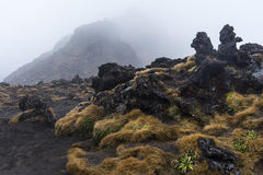 Ηφαιστειακός σχηματισμός βράχων στο εθνικό πάρκο Tongariro Στοκ Φωτογραφίες