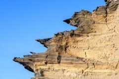 Ηφαιστειακός σχηματισμός πετρών με το μπλε ουρανό στη EL Golfo Στοκ Εικόνες