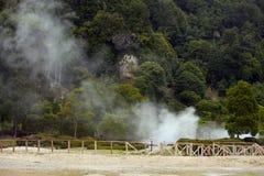 Ηφαιστειακός σύνθετος Furnas, Αζόρες, Σάο Miguel Στοκ εικόνα με δικαίωμα ελεύθερης χρήσης
