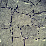 Ηφαιστειακός τοίχος βράχου Στοκ Φωτογραφία