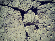 Ηφαιστειακός τοίχος βράχου Στοκ εικόνα με δικαίωμα ελεύθερης χρήσης