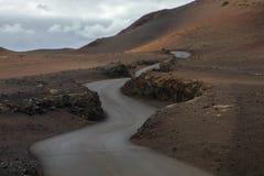 Ηφαιστειακό σεληνιακό τοπίο του εθνικού πάρκου Timanfaya Στοκ Φωτογραφίες