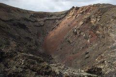 Ηφαιστειακό σεληνιακό τοπίο του εθνικού πάρκου Timanfaya Στοκ Εικόνα