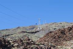 Ηφαιστειακό τοπίο - σιδηρόδρομος καλωδίων Στοκ φωτογραφία με δικαίωμα ελεύθερης χρήσης