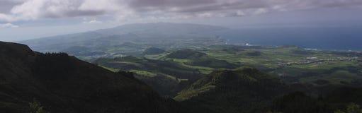Ηφαιστειακό τοπίο του νησιού του Miguel Σάο στις Αζόρες, Πορτογαλία Στοκ Φωτογραφία