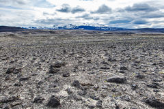 Ηφαιστειακό τοπίο - χέρσα περιοχή πετρών και τέφρας Στοκ Εικόνες