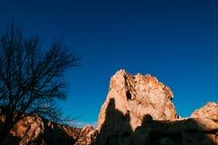 Ηφαιστειακό τοπίο Goreme Cappadocia, Τουρκία στο όμορφο s στοκ φωτογραφίες