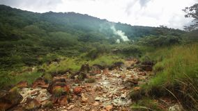 Ηφαιστειακό τοπίο Rincon de Λα Vieja του National πάρκου απόθεμα βίντεο