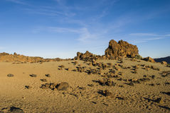 Ηφαιστειακό τοπίο (Teide - Tenerife) Στοκ εικόνα με δικαίωμα ελεύθερης χρήσης