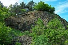 Ηφαιστειακό landform κρατήρων Στοκ Εικόνα