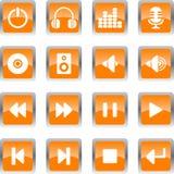 ηχητικά εικονίδια Στοκ εικόνα με δικαίωμα ελεύθερης χρήσης