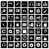 ηχητική μουσική εικονιδί&o διανυσματική απεικόνιση