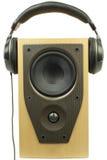 Ηχητικοί ακουστικά και ομιλητής Στοκ εικόνα με δικαίωμα ελεύθερης χρήσης