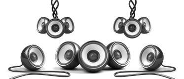 ηχητικό μαύρο μοντέρνο σύστημα Στοκ φωτογραφίες με δικαίωμα ελεύθερης χρήσης