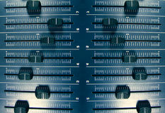 ηχητικό πρότυπο faders Στοκ Εικόνα