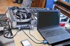 Ηχητικό σύστημα του DJ Στοκ φωτογραφία με δικαίωμα ελεύθερης χρήσης