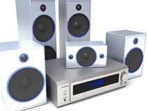 ηχητικό σύστημα Στοκ εικόνες με δικαίωμα ελεύθερης χρήσης