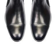 Η άκρη των αρσενικών παπουτσιών που απομονώνεται στο λευκό Στοκ εικόνες με δικαίωμα ελεύθερης χρήσης