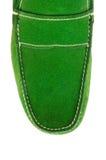 Η άκρη των αρσενικών παπουτσιών που απομονώνεται στο λευκό Στοκ Εικόνα