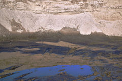 Η άμμος ή το αμμοχάλικο από τον ποταμό στοκ εικόνες