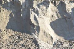 Η άμμος ή το αμμοχάλικο από τον ποταμό στοκ εικόνα