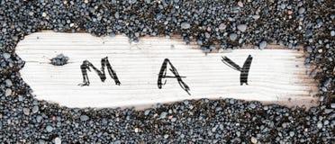 Η άμμος επάνω το ξύλο - Μάιος Στοκ εικόνες με δικαίωμα ελεύθερης χρήσης