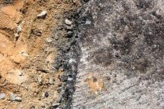 Η άμμος και το αμμοχάλικο είναι στο μισό άνωθεν στοκ εικόνα με δικαίωμα ελεύθερης χρήσης
