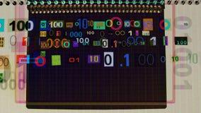Η λάμψη αποκόπτει τους δυαδικούς αριθμούς απόθεμα βίντεο