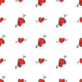 Η άνευ ραφής αγάπη για την ημέρα βαλεντίνων, οι εορτασμοί ή η επέτειος αφαιρούν, συρμένο χέρι σύσταση, σκηνικό ή υπόβαθρο απεικόνιση αποθεμάτων