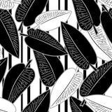 Η άνευ ραφής αφηρημένη minimalistic τέχνη αφήνει το floral σχέδιο διανυσματική απεικόνιση