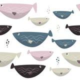 Η άνευ ραφής θάλασσα αλιεύει το απλό σχέδιο Υπόβαθρο άγριας φύσης Στοκ Φωτογραφία